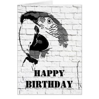 Tarjeta del feliz cumpleaños de la pintada del