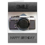 Tarjeta del feliz cumpleaños de la sonrisa de la c