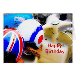 Tarjeta del feliz cumpleaños de los cascos de la v