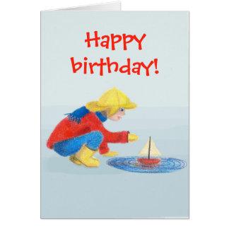 Tarjeta del feliz cumpleaños de los niños