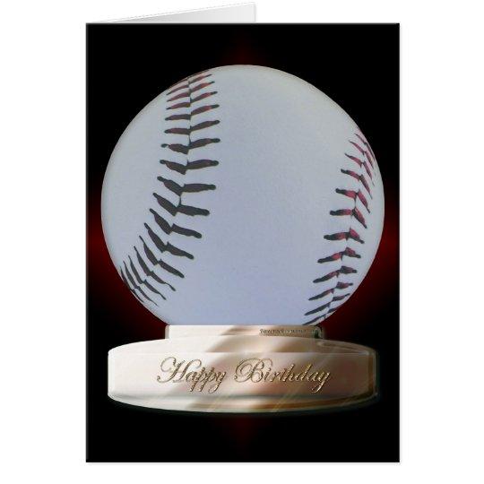 Tarjeta del feliz cumpleaños del béisbol