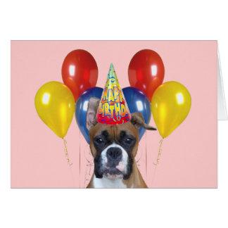 Tarjeta del feliz cumpleaños del boxeador