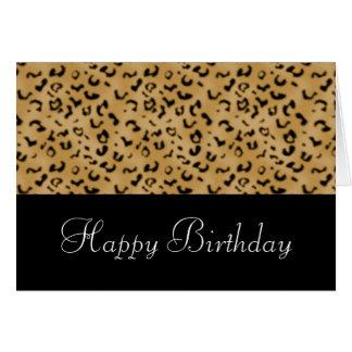 Tarjeta del feliz cumpleaños del estampado de