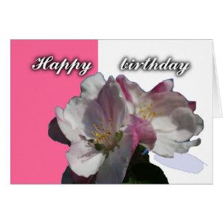 tarjeta del feliz cumpleaños del flor de la