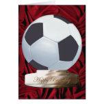 Tarjeta del feliz cumpleaños del fútbol