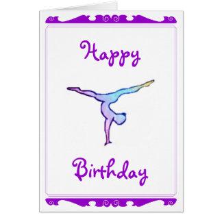 "Tarjeta del ""feliz cumpleaños"" del gimnasta"