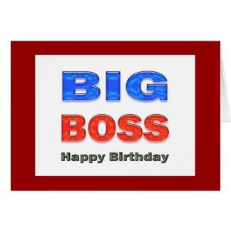 Tarjeta del feliz cumpleaños del gran jefe