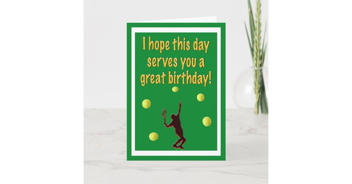 Tarjeta del feliz cumpleaños del jugador de tenis | Zazzle.es