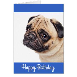 Tarjeta del feliz cumpleaños del perrito del barro
