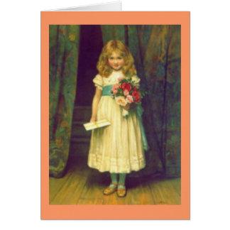 Tarjeta del feliz cumpleaños del Victorian