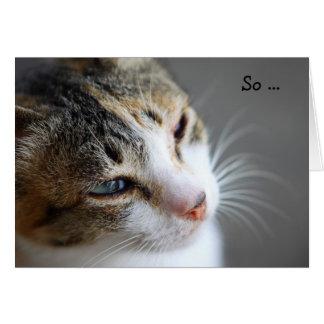 Tarjeta del feliz cumpleaños: Gato escéptico