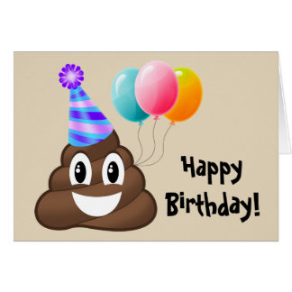 Tarjeta del feliz cumpleaños: Impulso Emoji del