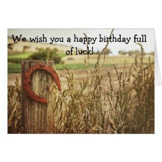 Tarjeta del feliz cumpleaños para la buena suerte