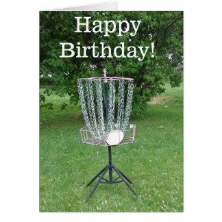 Tarjeta del feliz cumpleaños para un golfista del