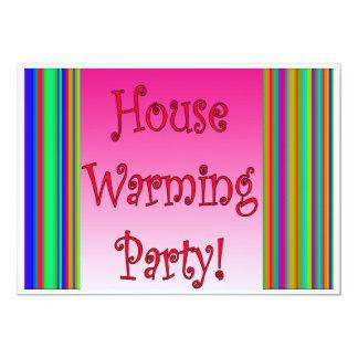 Tarjeta del fiesta de la casa que se calienta invitación 12,7 x 17,8 cm