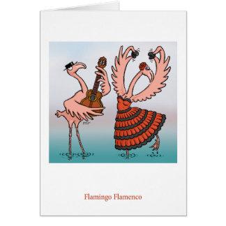 Tarjeta del flamenco del flamenco
