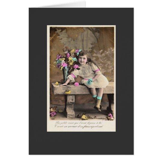 Tarjeta del francés del vintage