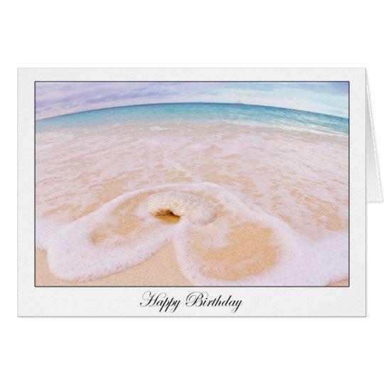 Tarjeta del frente de océano del feliz cumpleaños