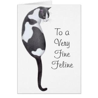Tarjeta del gato del smoking del feliz cumpleaños