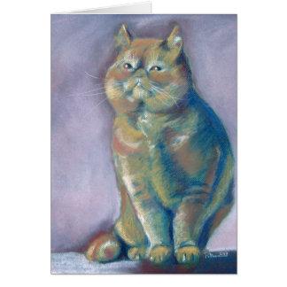 Tarjeta del gato persa