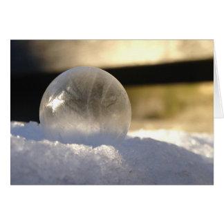 Tarjeta del globo del hielo