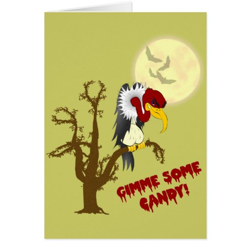 Tarjeta del halcón de Halloween