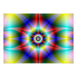 Tarjeta del halo de la estrella tarjetas de visita grandes