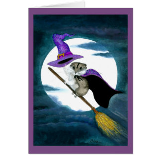 Tarjeta del hámster del feliz Halloween por Bihrle