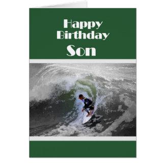 Tarjeta del hijo del feliz cumpleaños de la