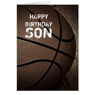 Tarjeta del hijo del feliz cumpleaños del