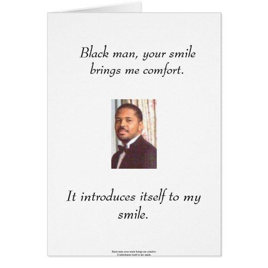 Tarjeta del hombre negro