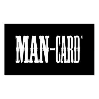 Tarjeta del hombre tarjetas de visita