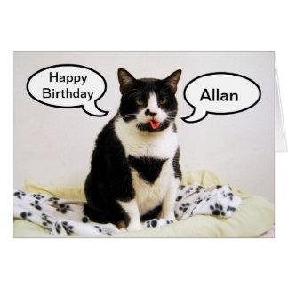 Tarjeta del humor de Allan Brother del cumpleaños
