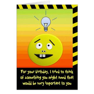 Tarjeta del humor de la idea del cumpleaños