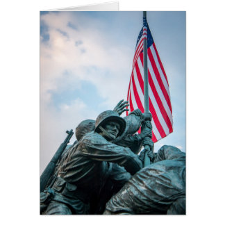 Tarjeta del infante de marina de Iwo Jima