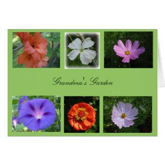 Tarjeta del jardín de la abuela