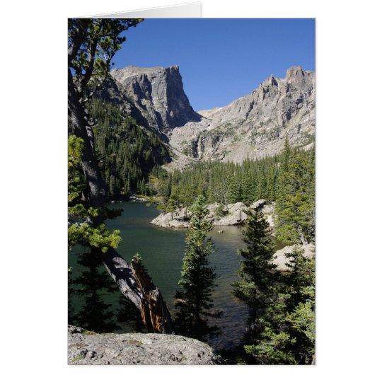 Tarjeta del lago ideal, Colorado