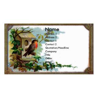 Tarjeta del libro de recuerdos del petirrojo y del tarjetas de visita