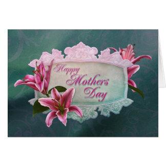 Tarjeta del lirio del Stargazer del día de madre