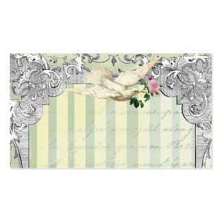 Tarjeta del lugar de la paloma de Lettre D'amour Tarjetas De Visita