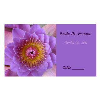 Tarjeta del lugar de la tabla de la flor de Lotus Tarjetas De Visita