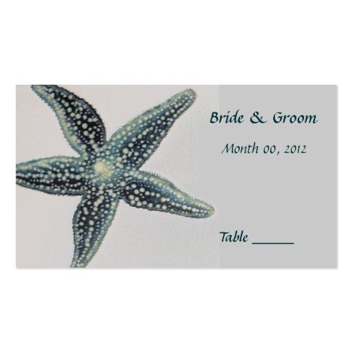 Tarjeta del lugar de la tabla de las estrellas de  plantillas de tarjetas personales