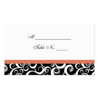 Tarjeta del lugar de la tabla de los remolinos del tarjeta personal