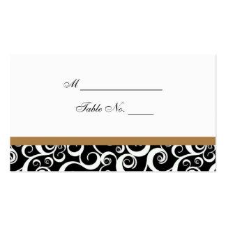 Tarjeta del lugar de la tabla de los remolinos del plantillas de tarjetas personales