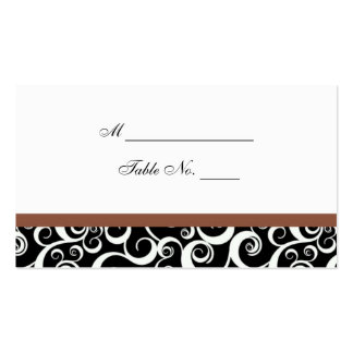 Tarjeta del lugar de la tabla de los remolinos del plantilla de tarjeta de visita