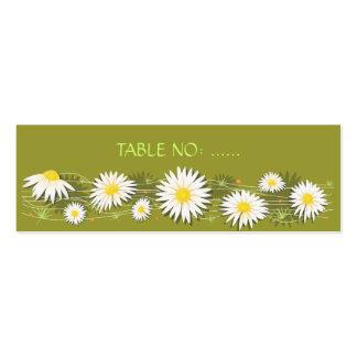 Tarjeta del lugar de la tabla del banquete de boda tarjetas de visita mini