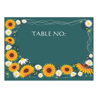 Tarjeta del lugar de la tabla del banquete de boda tarjetas de visita grandes