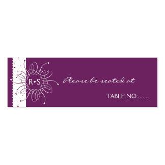 Tarjeta del lugar de la tabla del banquete de boda plantilla de tarjeta de negocio