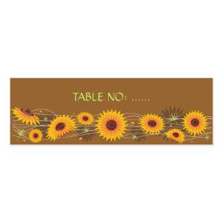 Tarjeta del lugar de la tabla del banquete de boda tarjetas de visita