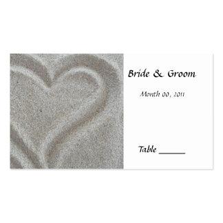 Tarjeta del lugar de la tabla del corazón de la ar tarjeta personal
